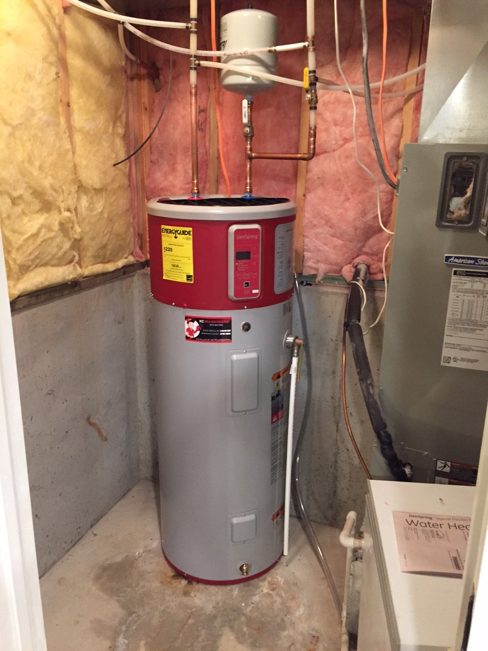 pictures of electric pump water heater - Electric Water Heater Installation