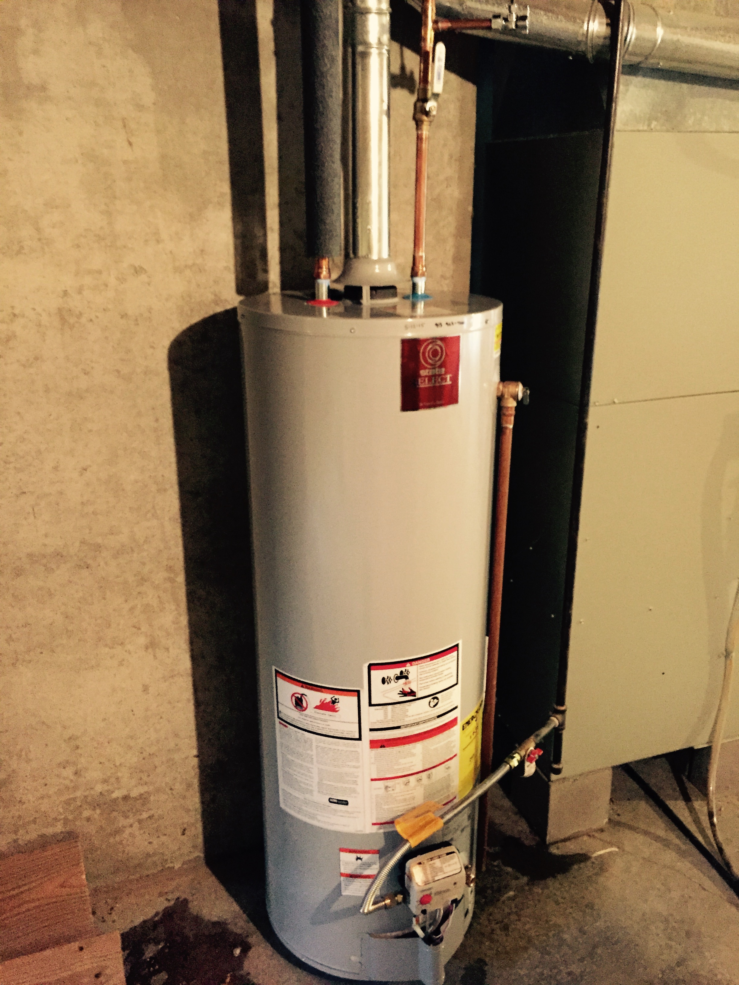 Water heater installation for Cpvc hot water