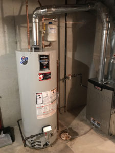 Professional water heater install