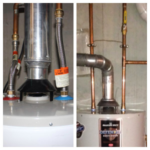 Water heater installation for Water line heaters