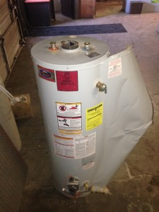 water heater split open from thermal expansion