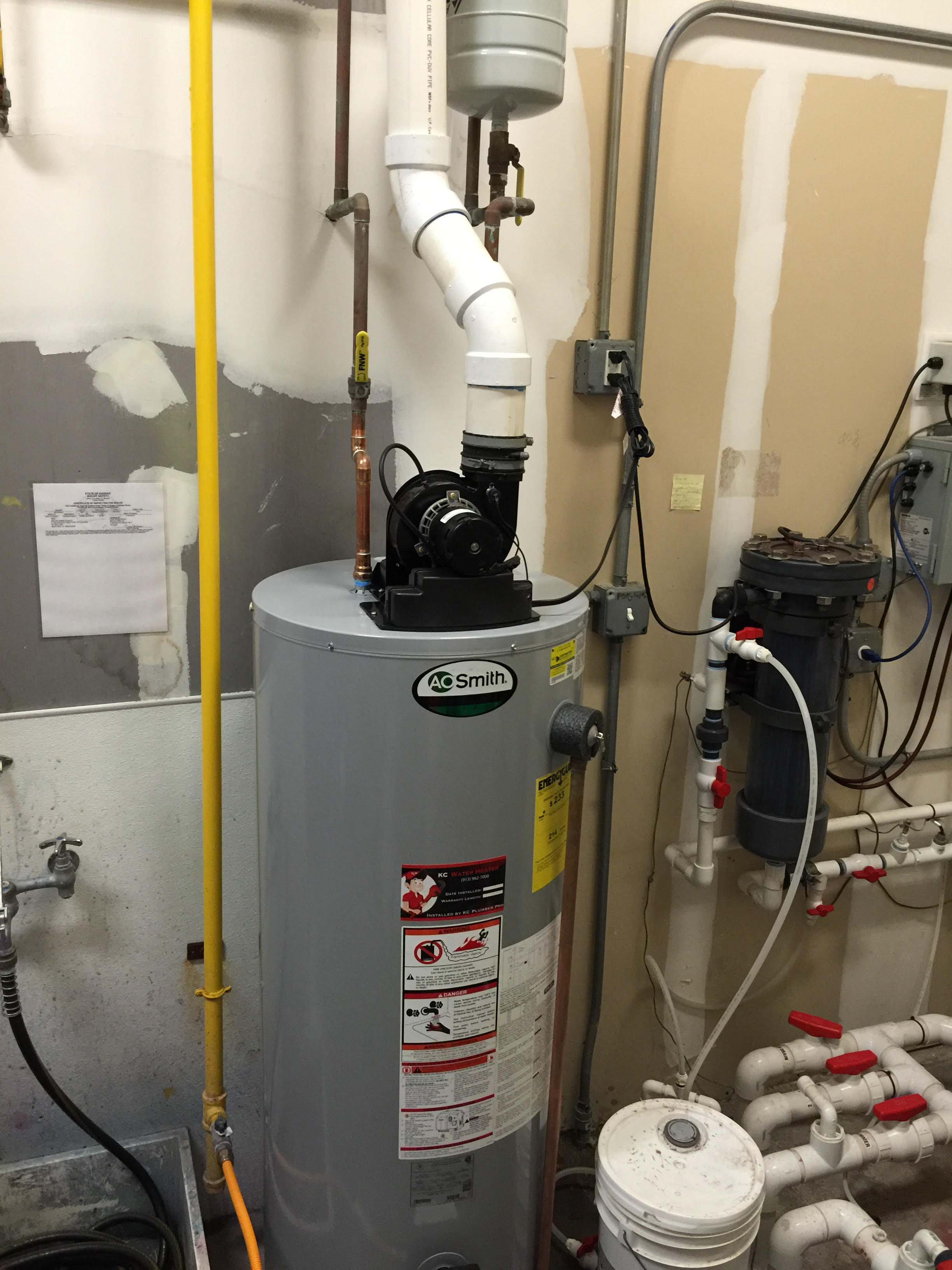 How to vent a hot water heater - Gpvt 50 200 Power Vent Leawood Kansas