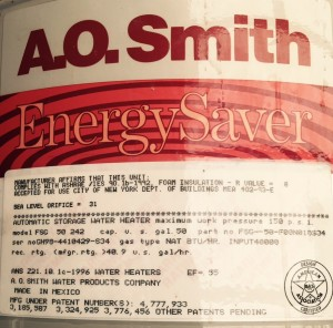 Age of AO Smith water heater