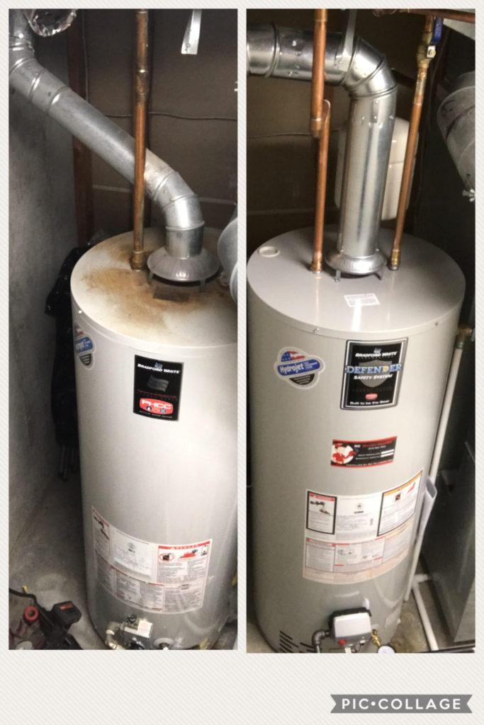 Bradford Water Heater >> Backdrafting Water Heaters - Water Heaters Installed by Licensed Plumber