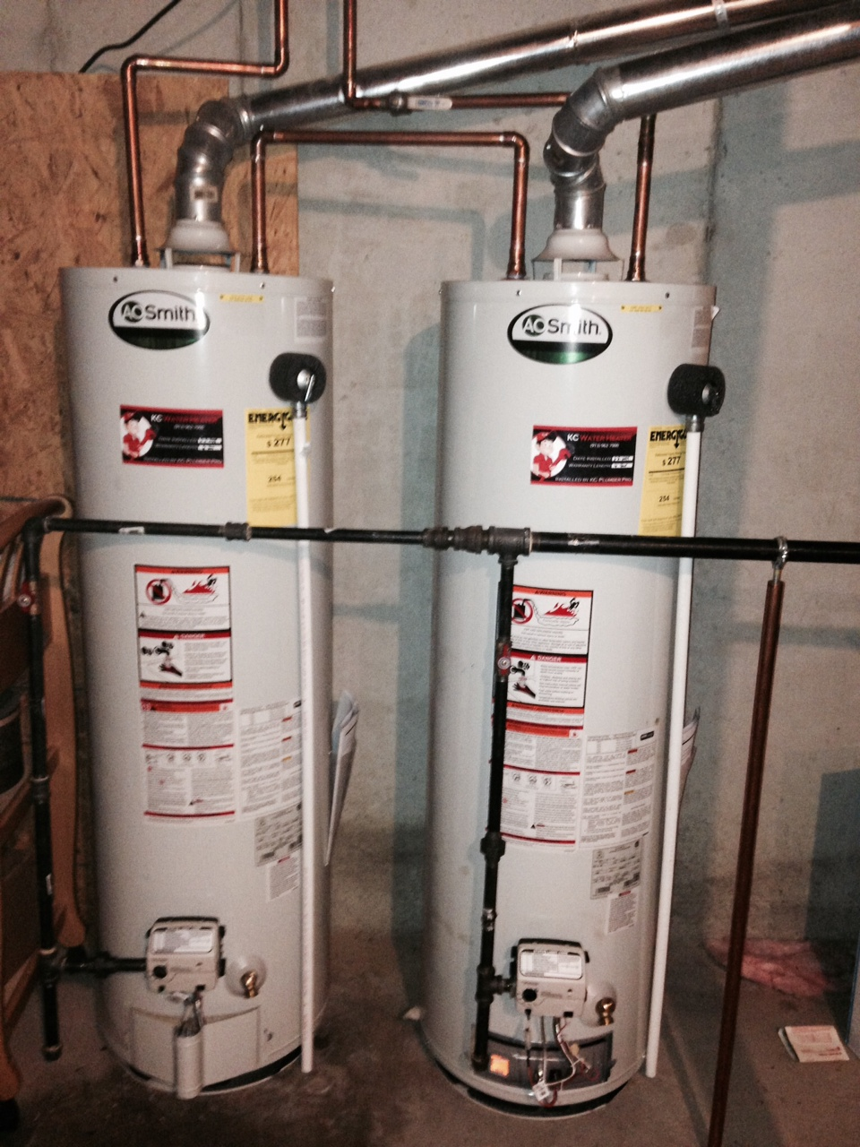 can you hook up two hot water heaters