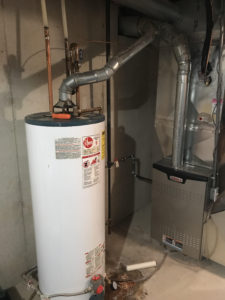 Incorrectly vented water heater