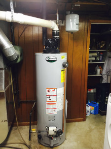 Power Vent water heater in Kansas City Kansas.
