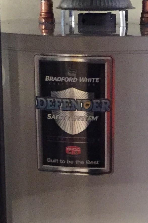 age of bradford white water heater