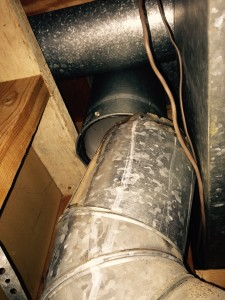 Flue for water heater not venting out of house