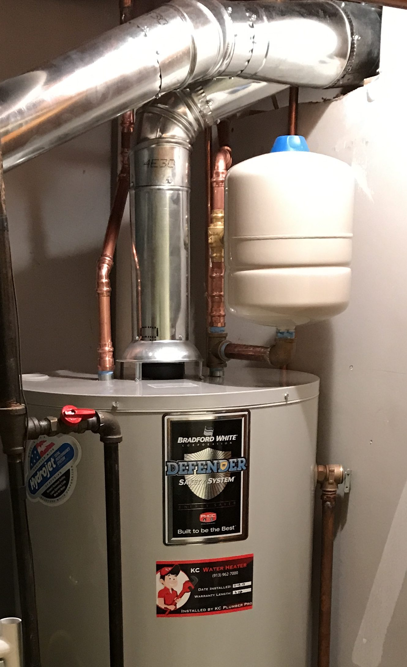 Properly installed atmospheric water heater